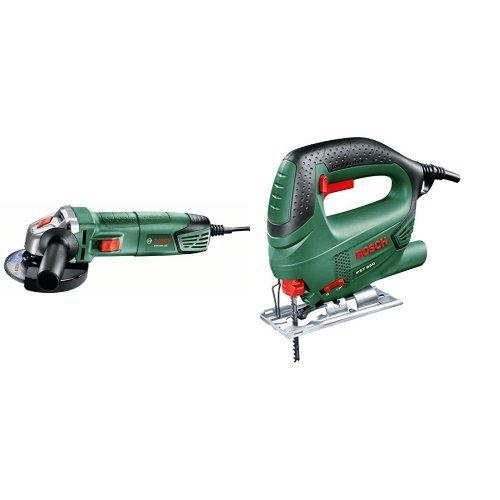 Bosch - BOSCH PWS 700-115 miniamoladora + PST 650 - Sierra de calar con maletín (500 W, 240 V) color verde