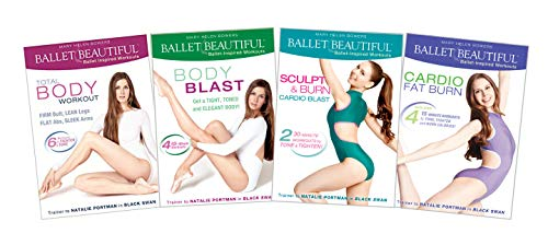 Ballet Beautiful Workout DVD 4 Pack - Classic Toning and Cardio Burn Collection. Mary Helen Bowers Barre Dance Inspired Fitness DVD Collection