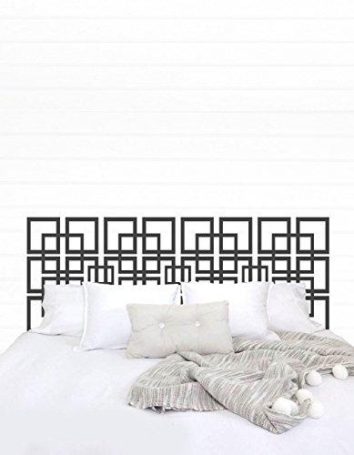 Susie85Electra Cabecero de vinilo para cama de matrimonio, cabecero de cama de tamaño king, vinilo adhesivo para pared, decoración de dormitorio