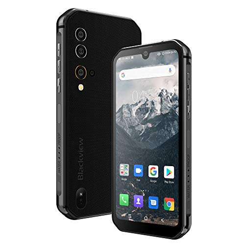 Móvil Resistente, Blackview BV9900 con 8GB y 256GB, Cámara Cuádruple 48MP con IA, Helio P90 Octa-Core, 5.84' FHD+ Waterdrop Screen, Batería 4380mAh Teléfono Antigolpes, NFC/Pulsómetro/IceMode/Aire/UV