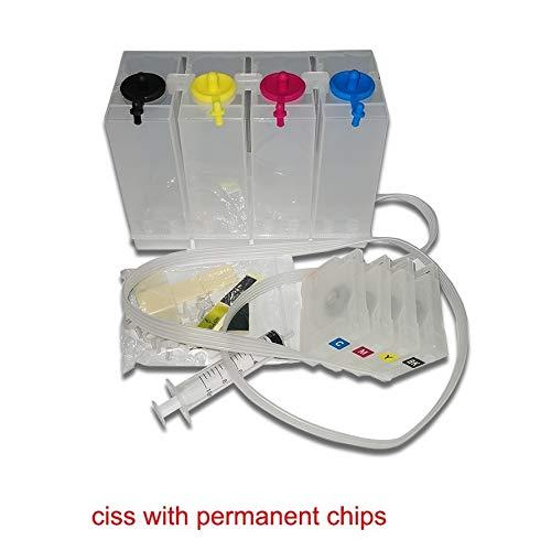 CHENTAOCS Ajuste for HP 952XL 952 XL CISS Continuo Ajuste Sistema de Suministro de Tinta for HP Officejet Pro 8210 8216 8702 7740 8710 8715 8720 8725 con el Arco de la viruta