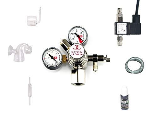 Hiwi CO2 Anlage 425 Profi ohne Flasche z.B. für Sodastream Zylinder o.a. Aquarium Komplettanlage ohne Flasche mit Magnetventil