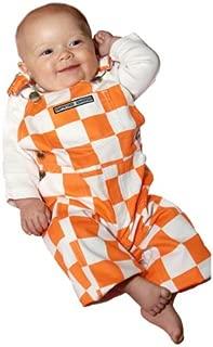 Game Bibs Infant Checkered Orange/White Overalls