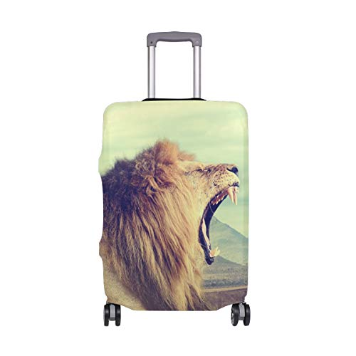 Travel Luggage Cover Protector Nature Animal Lion Suitcase Baggage Cover Spandex Fits 22-24 Inch