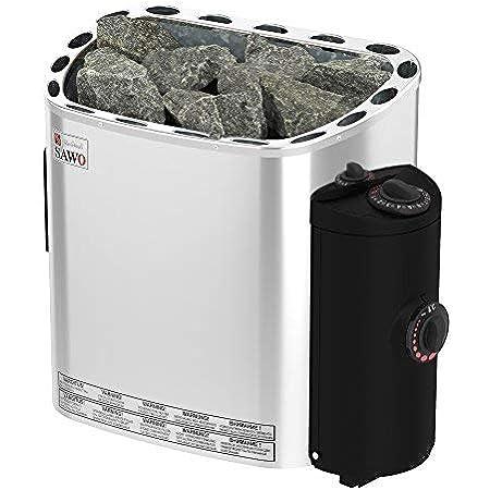 Sauna Poêle Électrique SAWO SCANDIA, Gamme de puissance: 4,5 kW; 6,0 kW; 8,0 kW; 9,0 kW; avec unité de contrôle intégrée (NB modèle); Multi-Tension: soit monophasé ou triphasé;