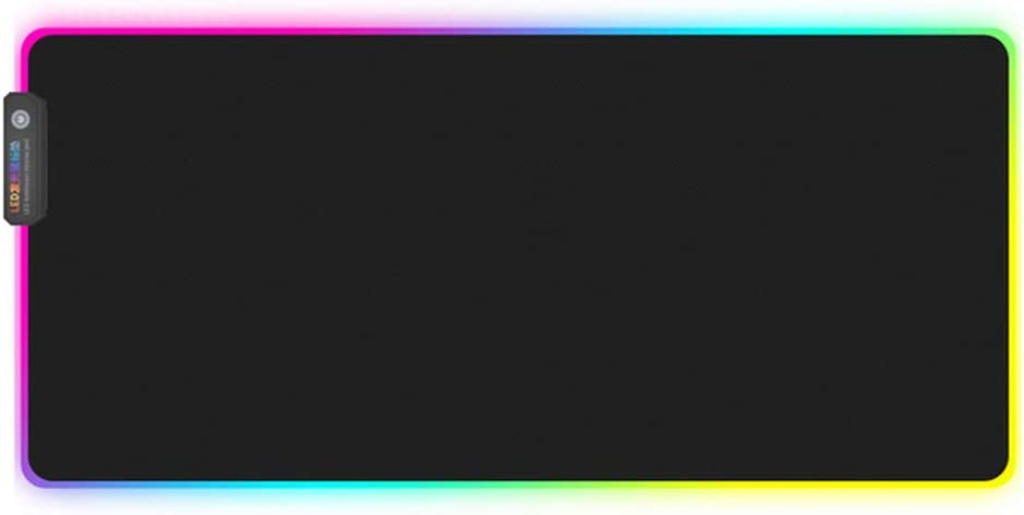 ZOOARTS Large RGB Colorful LED Lighting Gaming Mouse Pad Mat for PC Laptop 3007804