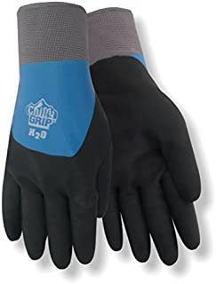 Red Steer A323-XL Chilly Grip H2O Waterproof Thermal-Lined Full-Fingered Work & General Purpose Gloves, Nitrile Overdip Coating, Blue/Black, X-Large [PRICE is per PAIR]