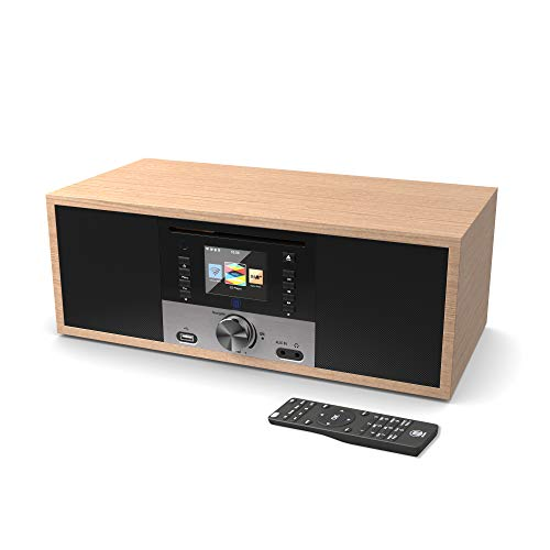 King's Internet Radio Network Digitale WiFi, Lettore CD, Bluetooth, DAB/DAB+/FM, Telecomando, Sistemi Hi-Fi e Surround, UPnP, AUX-in, USB MP3 (Quercia)