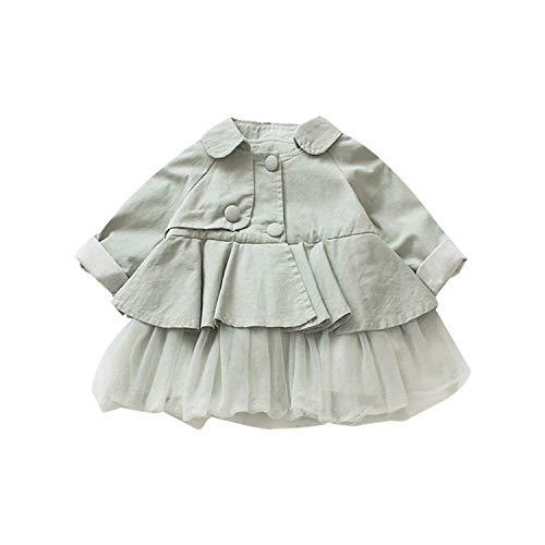 OneCherry - Abrigo para bebé, diseño de Flores, algodón, 3 Colores, 0-2Y G 9 Meses