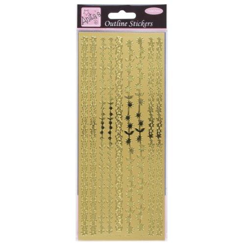 Anita's ANT 8101020 Scrapbooking-Stickers, Gold, Einheitsgröße