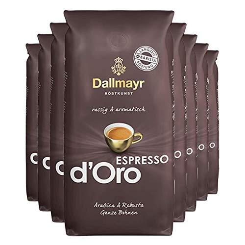 Dallmayr Espresso d'Oro ganze Bohnen 8x 1000g (8000g) - rassig aromatischer Kaffee