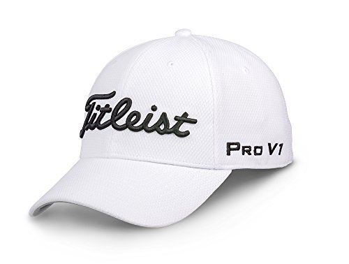 Titleist Tour Elite Staff Collection Golf Cap 2018 White/Black Large/X-Large