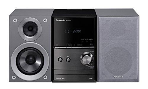 Panasonic SC-PM602EG-S Micro- mit Digital DAB+ (CD, Bluetooth, UKW , HiFi-System mit 40W RMS) silber