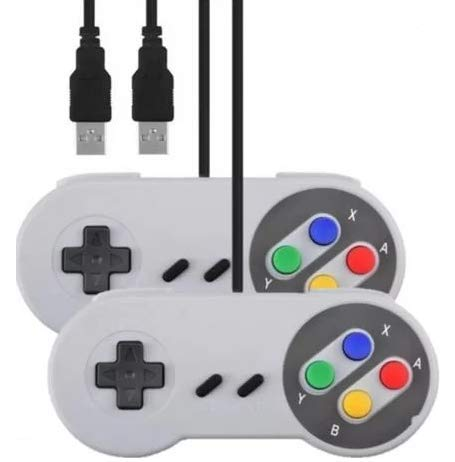 2 Controles Super Nintendo Snes Usb Para Pc Mac Linux Raspberry