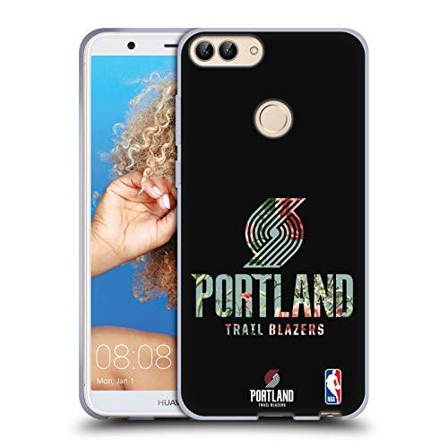 Officiële NBA Bloemen 2019/20 Portland Trail Blazers Soft Gel Case Compatibel voor Huawei P Smart/Enjoy 7S