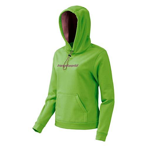 Trangoworld Poppi Sudadera, Mujer, Verde/Granate Claro, M