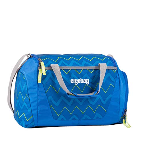 ERGOBAG LiBearo 2:0 Kinder-Sporttasche, 50 cm, 20 Liter, Zig Zag Blue Green