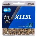 KMC X11SL チェーン 11スピード/11s/11速 118Links (ゴールド) [並行輸入品]