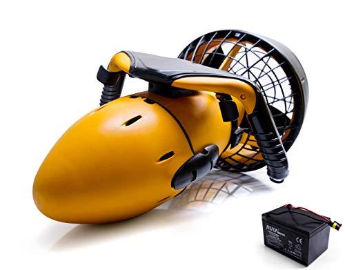 Stark-Tech SeaScooter - Patinete Sumergible (300 W, hasta 6 km/h, diversión bajo el Agua, con batería Adicional)