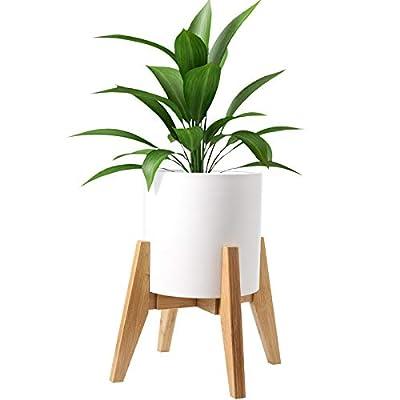 HOKEMP Plant Stand Mid Century Wood - Adjustabl...