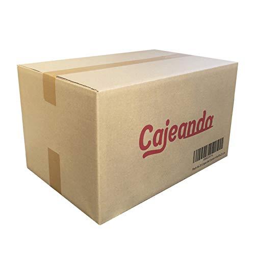 Cajeando | Pack de 20 Cajas de Cartón | Tamaño 43 x 30 x 25 cm | Canal Simple de Alta Calidad Reforzado y Resistencia | Mudanza y Almacenaje | Fabricadas en España