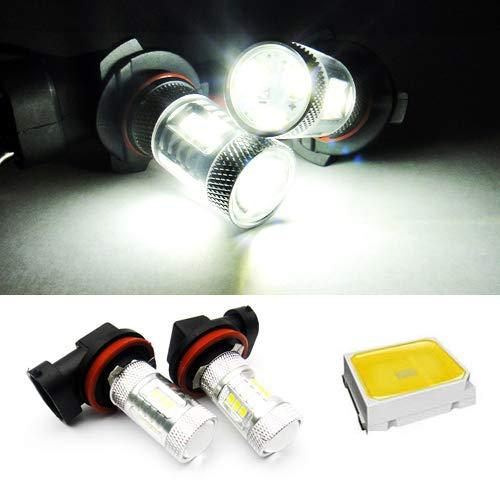 Lot de 2 ampoules LED H11 H8 blanches pour feux de position, feux de circulation diurnes, feux de brouillard RZG