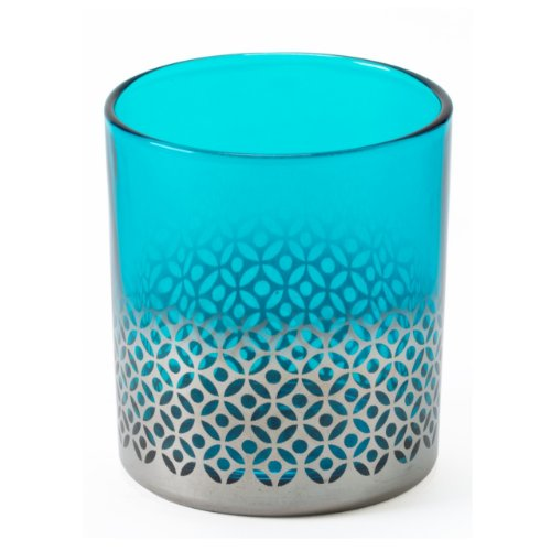 Shiraleah Morocco Votive Candle Holder, Small, Turquoise