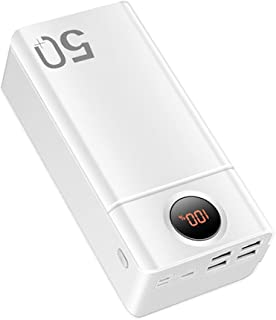 50000mAh Power Bank, 18W Type C PD Fast Charge 22.5W Portable Charger with 5 Outputs and 3 Inputs, Huge Capacity External ...