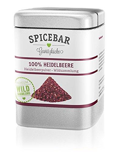 Heidelbeerpulver, Fruchtpulver gefriergetrocknet aus 100% Heidelbeere / Blaubeere (1 x 50g)
