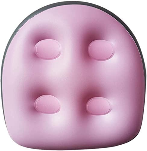 2 cojines de masaje para jacuzzi, bañeras hinchables, multifuncionales, antideslizantes, con mango de ventosa, ideal para adultos mayores, niños, spa y descanso, color rosa