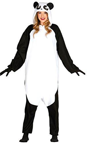 Guirca- Disfraz adulta pijama oso panda, Talla 42-44 (84612.0)