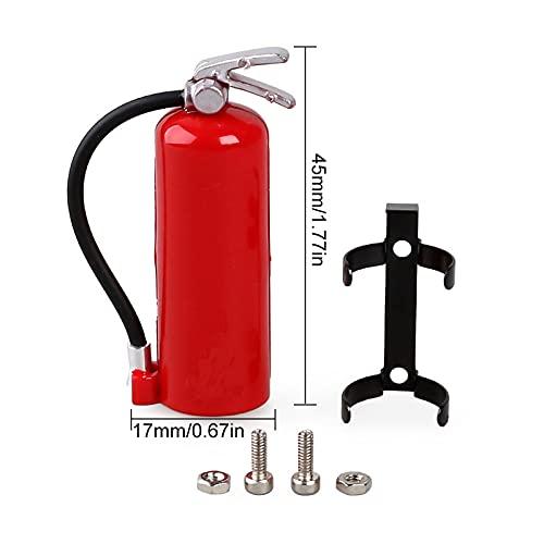 AMOGOT RC Car Decoration Accessories Mini Fuel Tank RC Fire Extinguisher for 1/10 RC TRX4 Axial SCX10 Redcat GEN7 gen8 D90 TF2 CC01 Rock Crawler