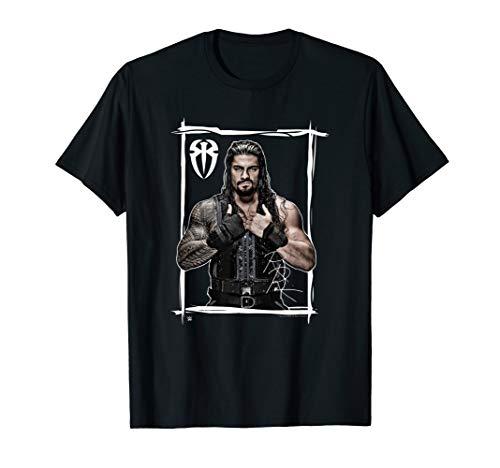 WWE Roman Reigns Black White T-Shirt