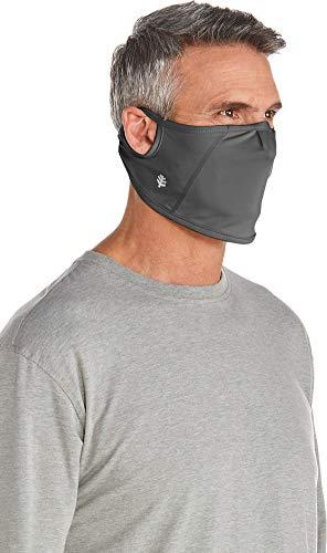 Coolibar UPF 50+ Men's Women's Blackburn UV Mask - Sun Protective (Small/Medium- Charcoal)