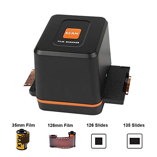 [2020 Latest ] Mini Digital Slide & Negative Film Scanner Converter – Convert 35mm 126 Film Negatives & Slides to HD Digital JPEG Photos, Easy Load Film Insert, Works on Windows & Mac OS Computers