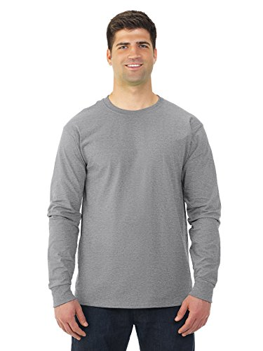 Fruit of the Loom 5 oz.Heavy Cotton HD Long-Sleeve T-Shirt (4930) -Athletic H -M