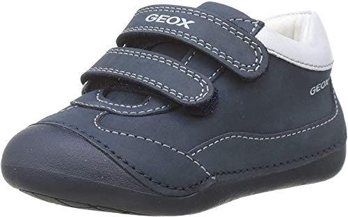 Geox B TUTIM A, Zapatos Primeros Pasos Bebé-Niños, Azul (Navy/White C4211), 18 EU