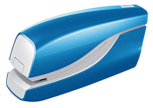 Petrus 624822 Grapadora Eléctrica, Grapa 10 Hojas, Funciona con Pilas, Gama WOW,Azul