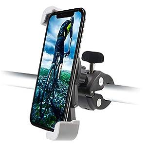 Cuxwill Safety Soporte de teléfono para motocicleta y bicicleta para iPhone 11 Pro Max 11 Pro Xr Max Xs X 8 Plus 8 7, Samsung Galaxy S9 S9 + S8 S7 Note 9 8 y más Teléfonos celulares de 4-6.8 pulgadas