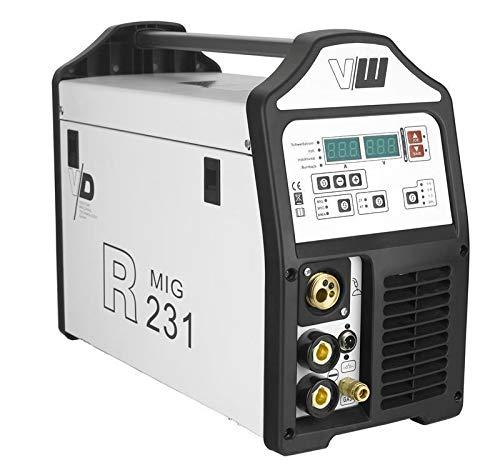 MIG MAG Fülldrahtschweißgerät mit Elektrodenschweißfunktion und WIG Modus 200 Ampere | 2 und 4 Takt - Jobspeicher - auto. & manu. Einstellung von Drahtstärken von Vector...