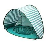 Josopa Tienda de playa para bebé, tienda de campaña portátil para bebé, revestimiento 190T anti-UV de verano, refugios de sol, protector solar, paraguas de playa para bebés