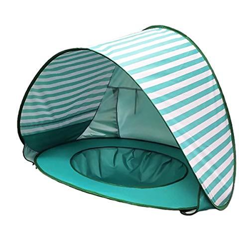 OhhGo Baby Strandtent Opvouwbaar Eenvoudig Op Te Zetten Uv-Bestendig Peuter Zwembad Tent Speeltent Voor Strand Achtertuin Binnen