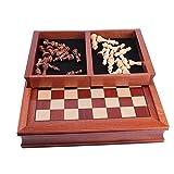 Pillows-RJF ajedrez magnético,Hecho a Mano Madera Tablero de ajedrez con el cajón Juego de ajedrez Familia Juego de Mesa para Niños Adulto,2size