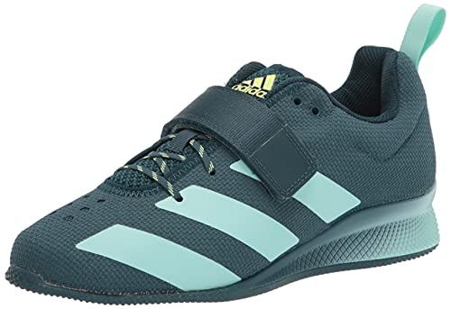 adidas Women's Adipower Weightlifting II Cross Trainer, Wild Teal/Mint/Hi-Res Yellow, 8