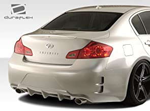 Extreme Dimensions Duraflex Replacement for 2007-2013 Infiniti G Sedan G25 G35 G37 Elite Rear Bumper Cover - 1 Piece