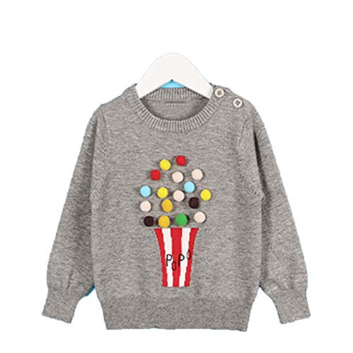 Guy Eugendssg New Spring Children's Clothing 1-5Yrs Children's Sweater Triangle Symbol Kids Pullover Gray 6T