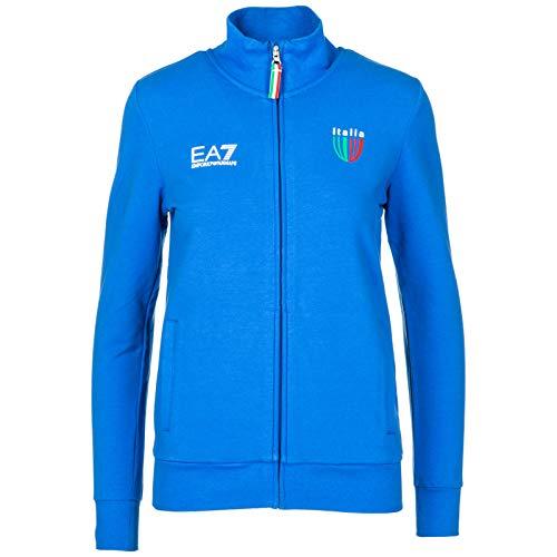 Emporio Armani EA7 Italia Team Felpa Donna True Blue S
