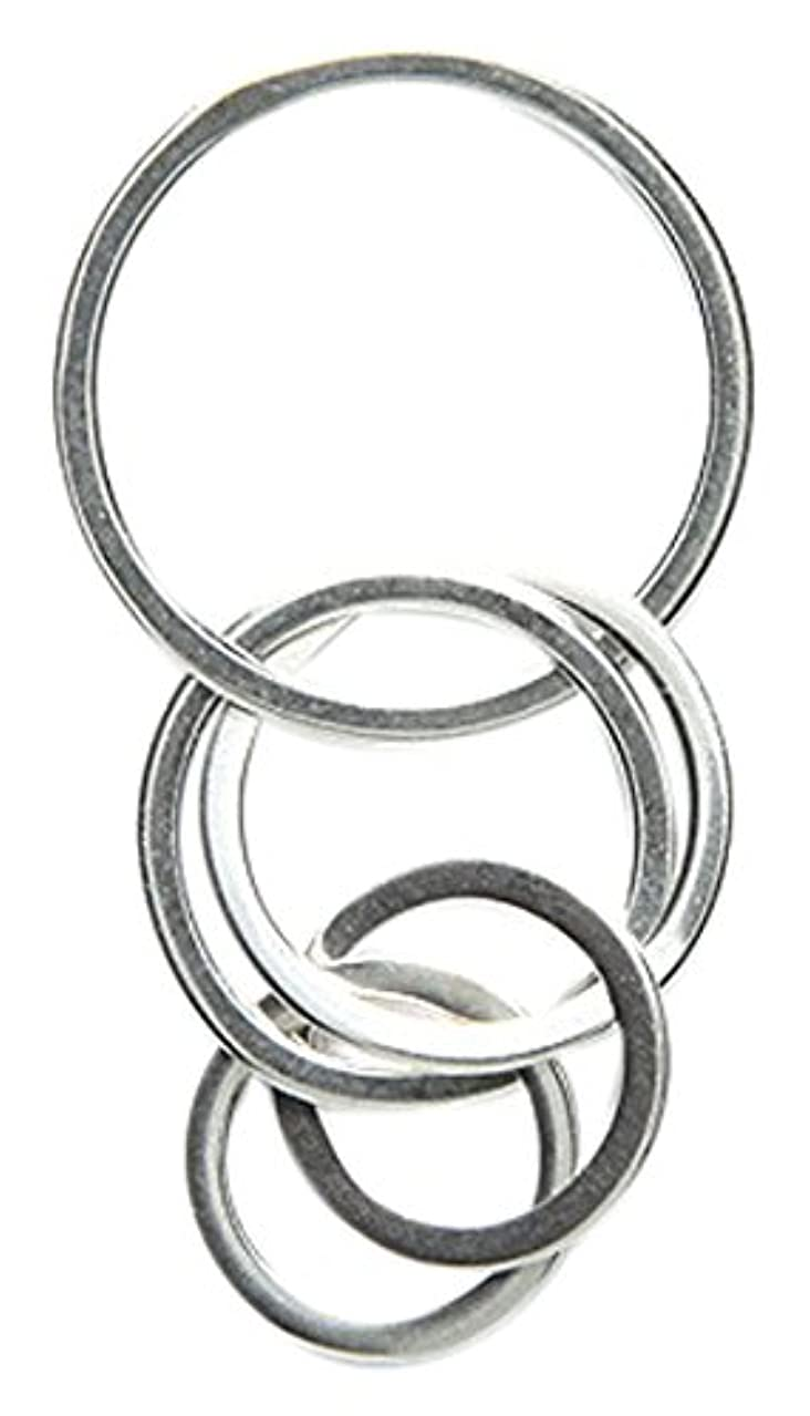 Amoracast Sterling Silver Focal Multiple Hoops 17x35mm, 17 x 35mm