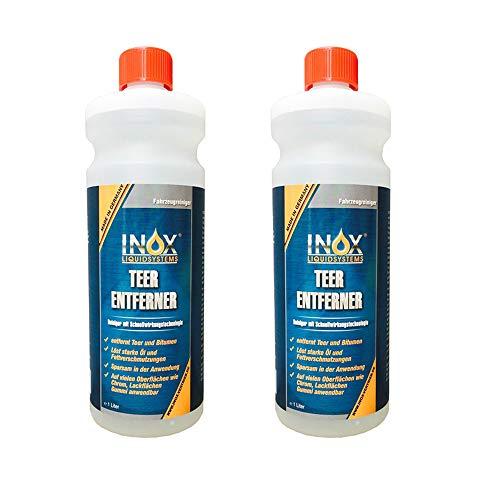 INOX® Teerentferner, 2 x 1L - Klebstoffentferner für Auto, Wohnmobil und Campingwagen