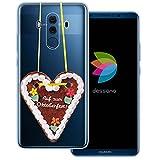 dessana Volksfest München Coque de protection transparente pour Huawei Mate 10 Pro Motif cœur en...